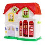 Veľký rozkladací domček s červenou strechou