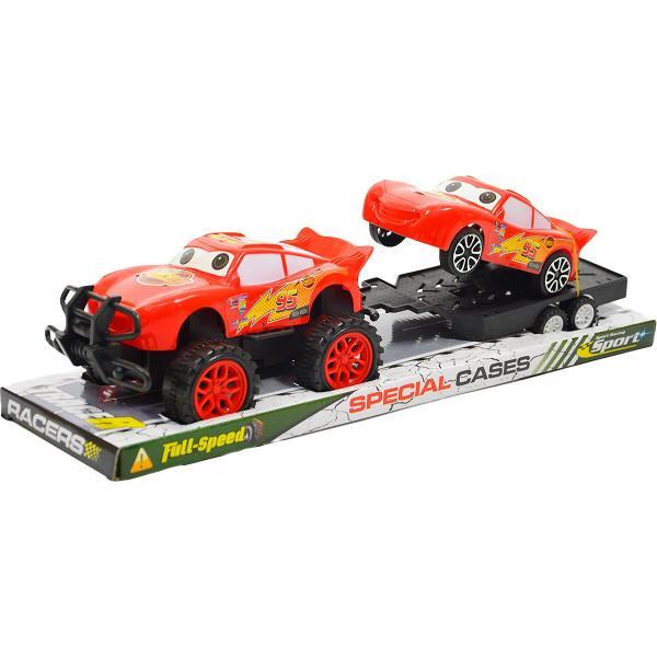Auto Blesk McQueen a prívesný vozík s autom