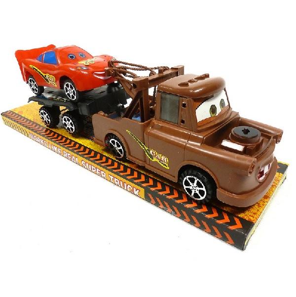 Auto Burák, prívesný vozík a Blesk McQueen