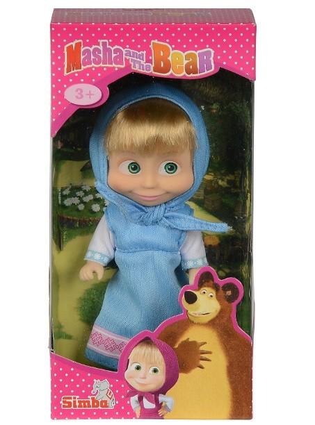 Bábika Máša v modrej sukničke