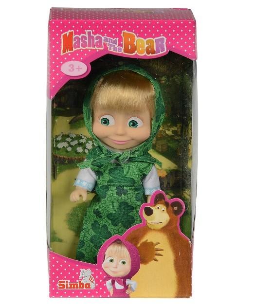 Bábika Máša v zelenej sukničke