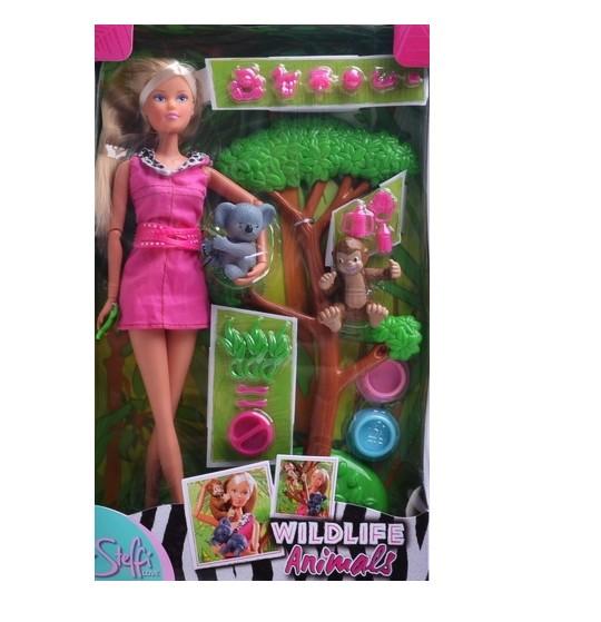 Bábika Steffi s divokými zvieratkami
