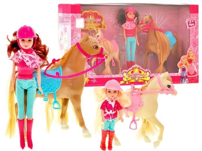 Bábiky jazdkyne s koníkmi