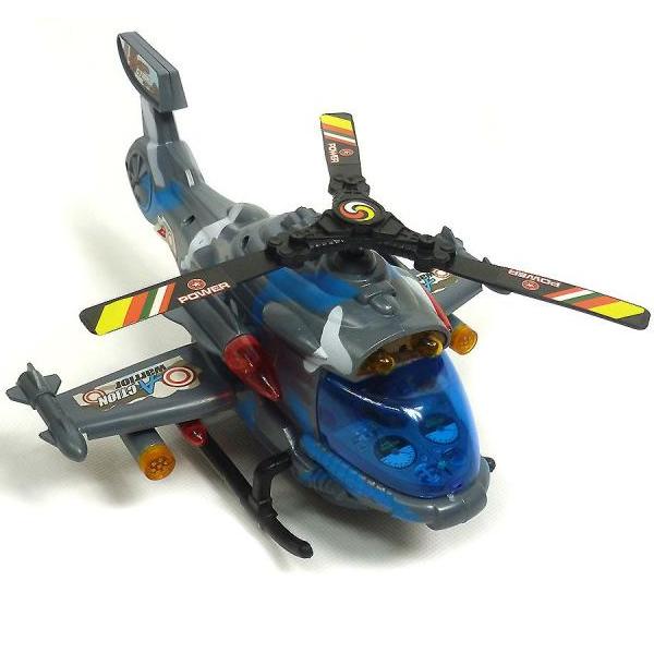 Bojová helikoptéra so svetlom a zvukom