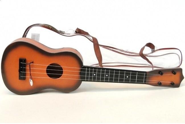 Detská gitara hnedá