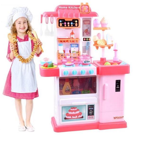 Detská kuchynka so svetlom, zvukom a tečúcou vodou