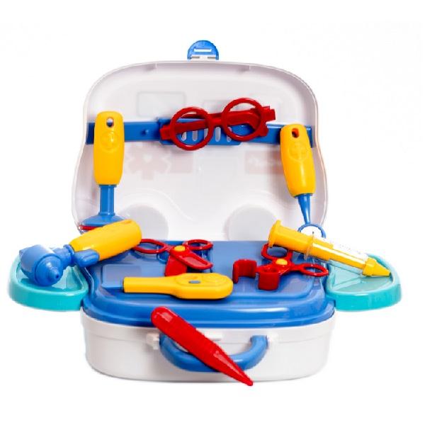 Detská lekárska súprava v kufríku - autobus