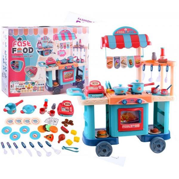 Detská pojazdná kuchynka s rýchlym občerstvením