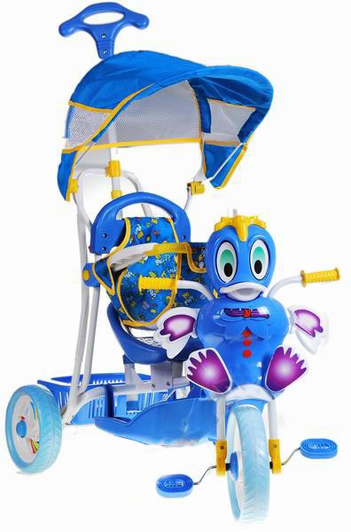 Detská trojkolka kačička modrá