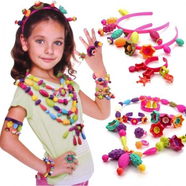 Detské farebné korálky - veľký set