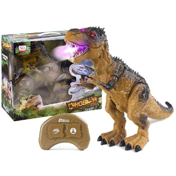 Dinosaurus T-Rex na diaľkové ovládanie chrliaci dym