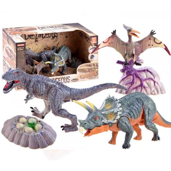 Dinosaury - sada 3 ks - A