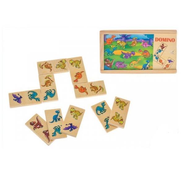 Domino drevené - zvieratka