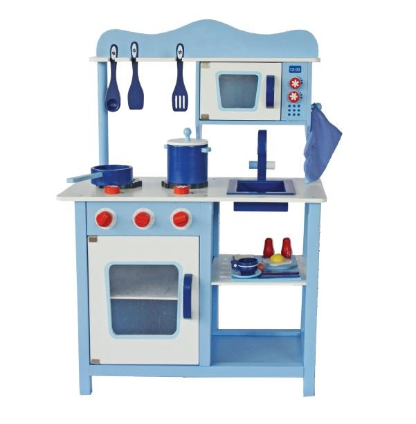 Drevená kuchynka Classic modrá