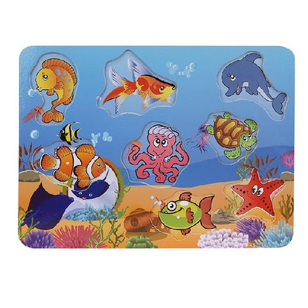 Drevená vkladačka - morské živočíchy