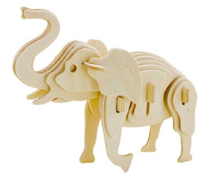 Drevené 3D puzzle - divoké zvieratá