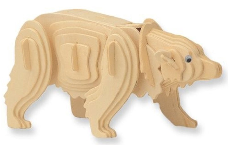 Drevené 3D puzzle - zvieracia skladačka