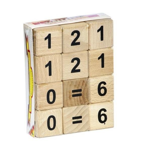 Drevené kocky s číslicami