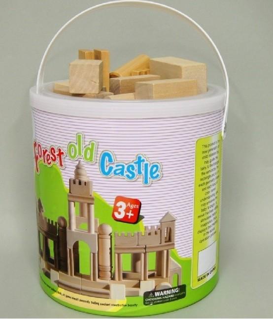 Drevené kocky - Starý zámok 70 ks