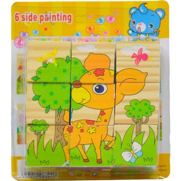 Drevené obrázkové kocky - zvieratká