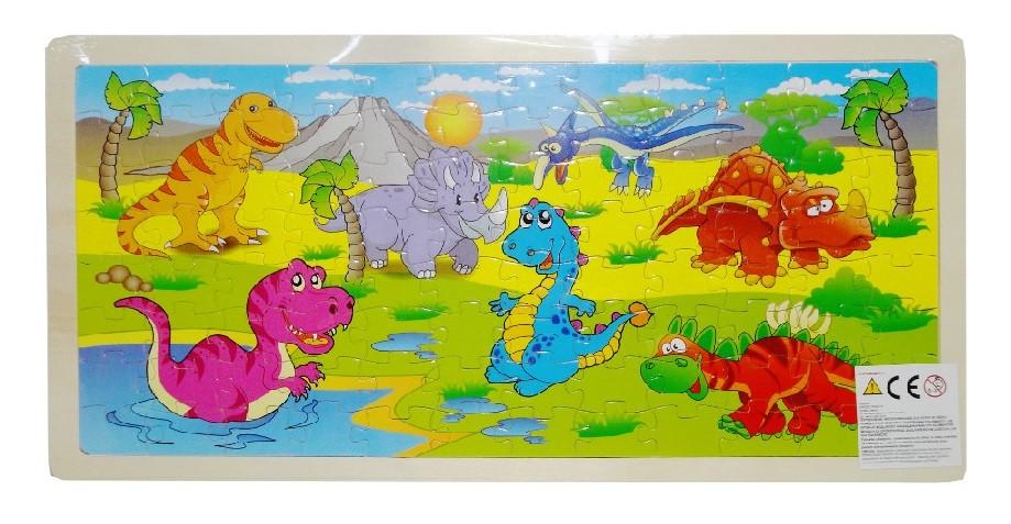 Drevené puzzle Dinosaury