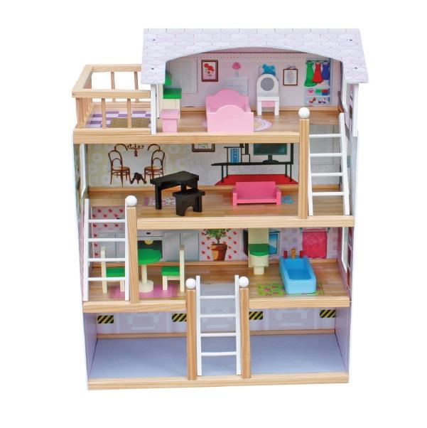 Drevený domček pre bábiky Laura