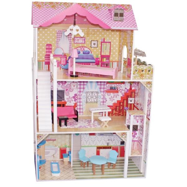 Drevený domček pre bábiky Lila