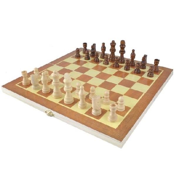 Drevený šach