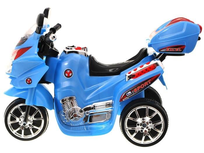 Elektrická športová motorka modrá