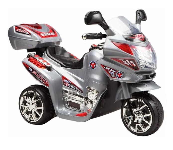 Elektrická športová motorka strieborná