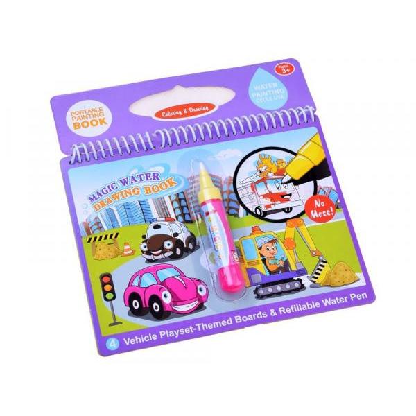 Farebná vodná omaľovanka - vozidlá