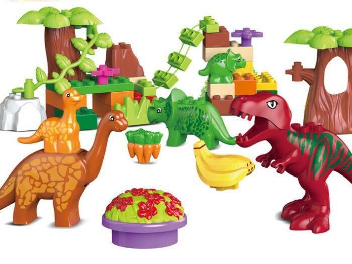 Farebné kocky Dinosaury