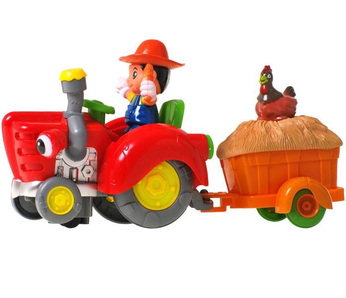Farmársky traktor s prívesom
