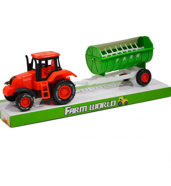 Farmársky traktor s vlečkou 22 cm