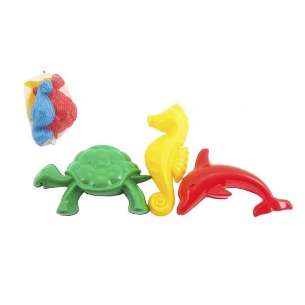 Formičky do piesku zvieratká 3 dielne