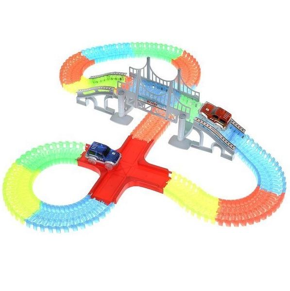 Glow Tracks svietiaca autodráha 480 ks