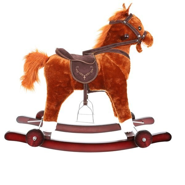 Hojdací koník s kolieskami