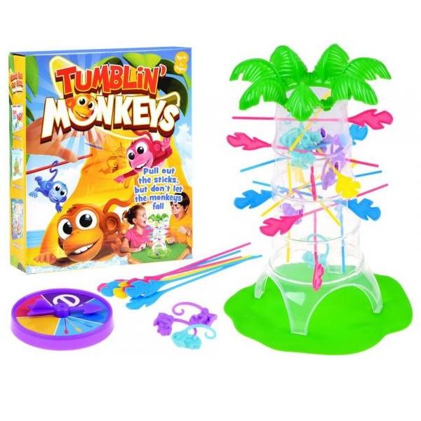 Hra padajúce farebné opičky