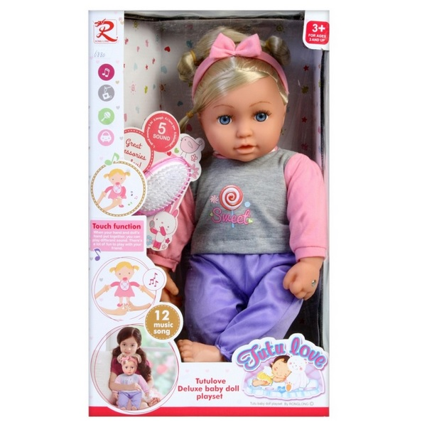 Interaktívna bábika Tutu 40 cm