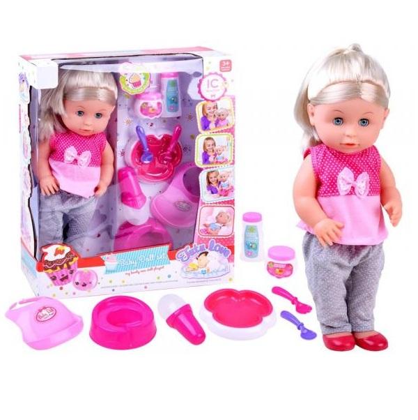 Interaktívna hovoriaca bábika 40 cm