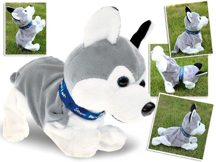 Interaktívny plyšový pes Husky