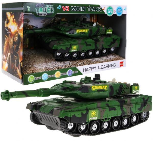 Interaktívny tank so svetlom a zvukom