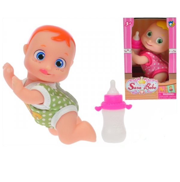 Kľačiace bábätko s veľkými očami