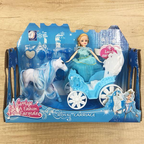 Koč zimné kráľovstvo s bábikou