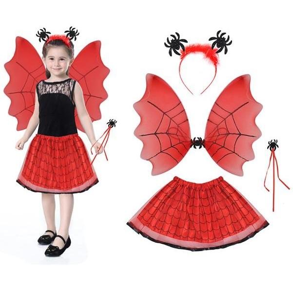Kostým malej čarodejnice červený