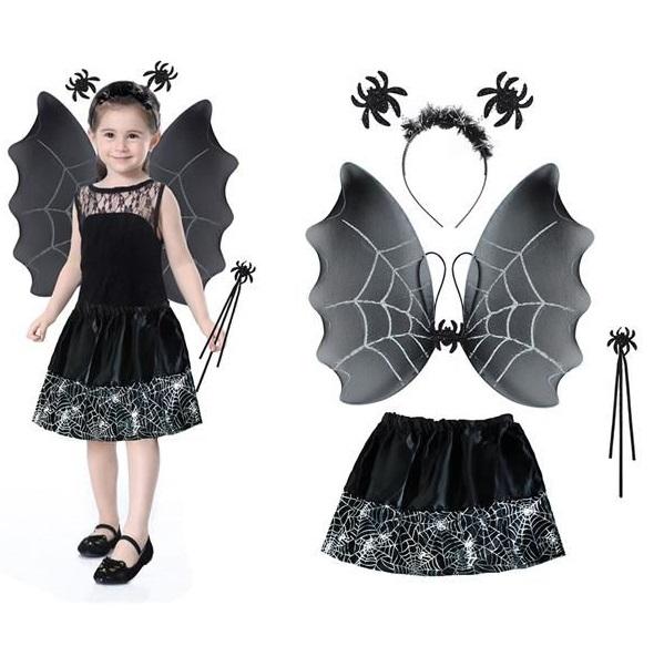 Kostým malej čarodejnice čierny