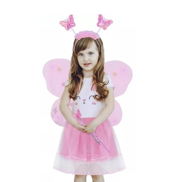 Kostým motýlia víla ružový