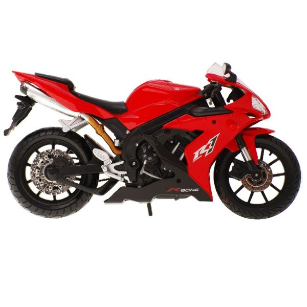Kovová závodná motorka