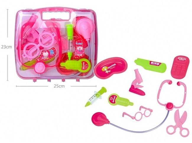 Detská lekárska súprava ružová