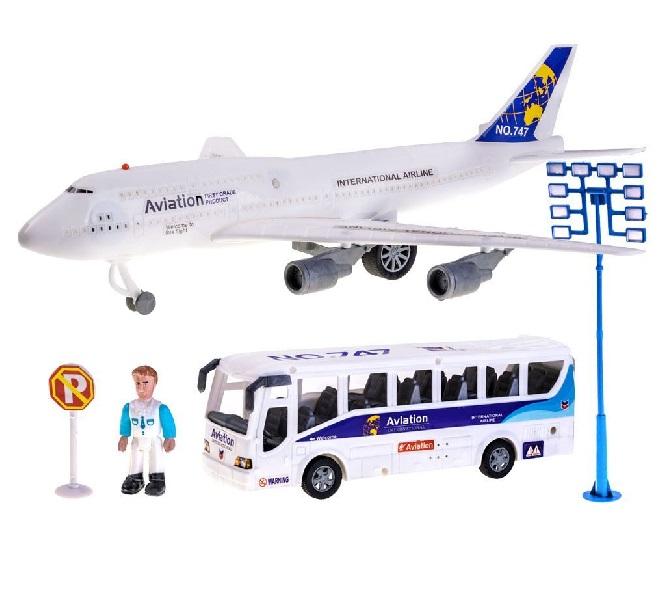 Letisková súprava: lietadlo + autobus